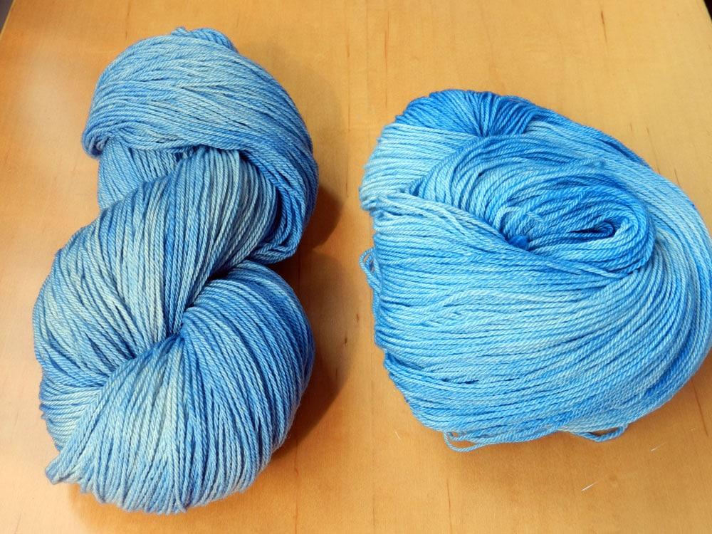 Blue Ice Fingering Weight Yarn
