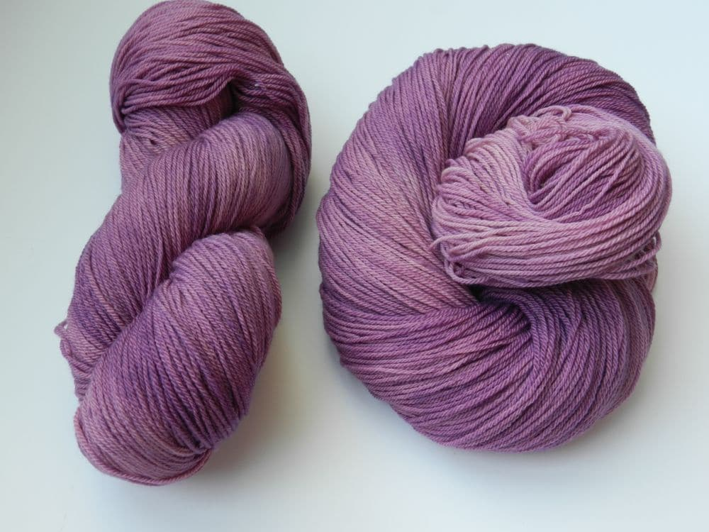 Plum 3-Ply Fingering Weight Yarn